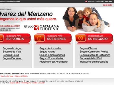 Diseño web Seguros Alvarez del Manzano