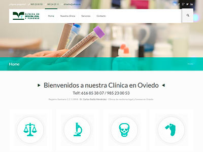 Diseño web | Medicina legal y forense