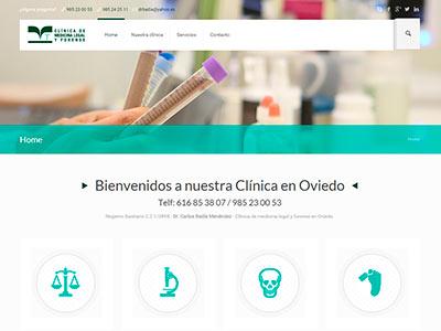Diseño web | Medicina legal y forense