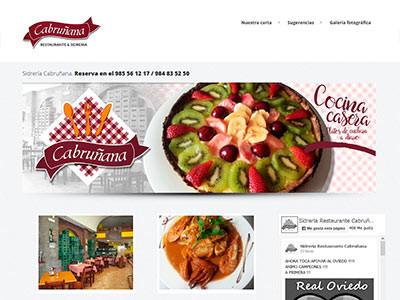 Diseño web | Sidrería Cabruñana