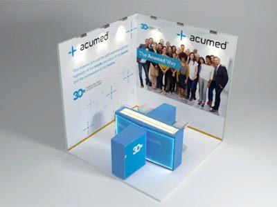 Diseño gráfica stand Acumed