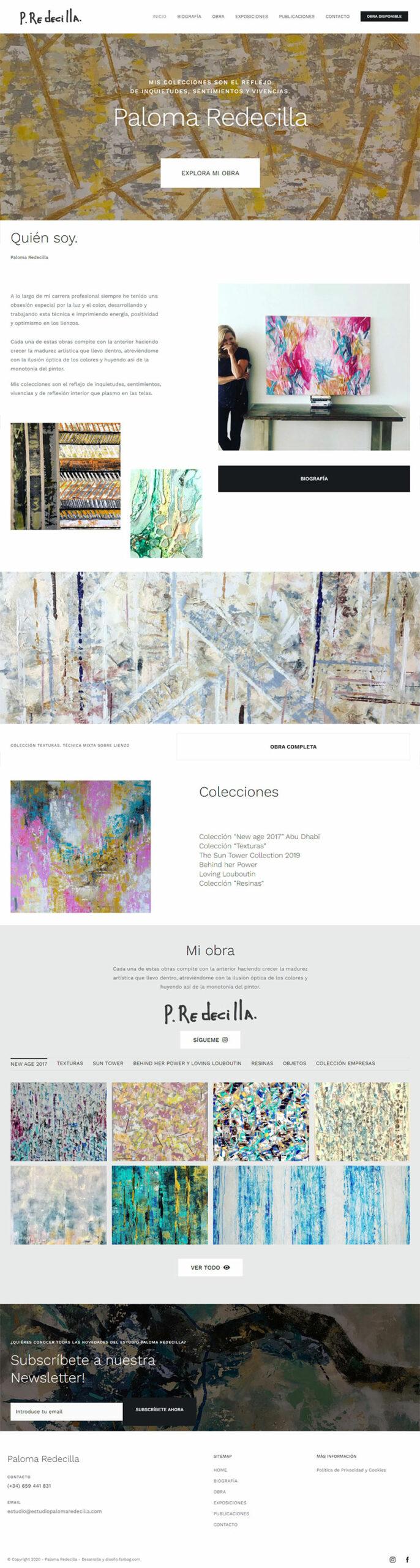 Página web Estudio Paloma Redecilla